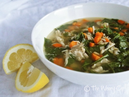 Lemon Chicken Soup - Delicious, #easy #chickensoup #recipe by @wearychef