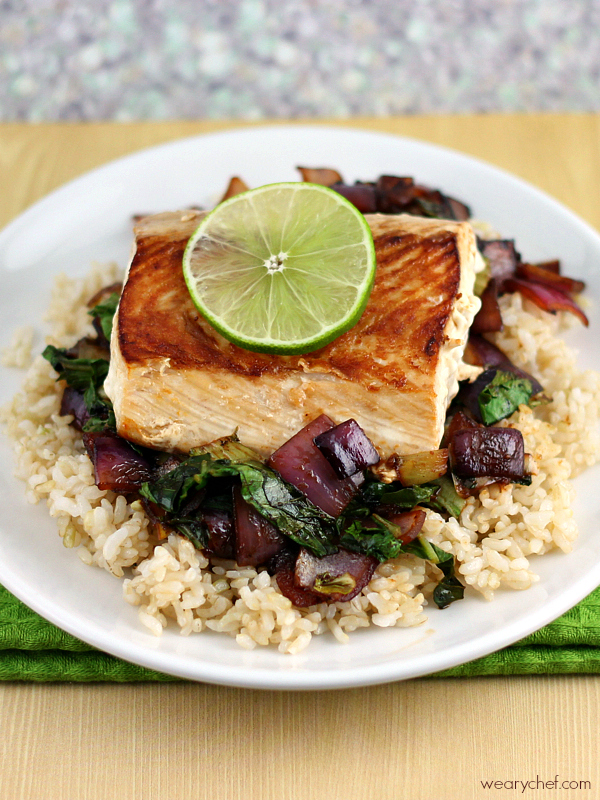 Asian Fish with Vegetables over Rice #30minutemeal