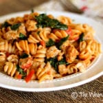 Skillet Sausage Pasta with Spinach: Restaurant quality dish in 30 minutes!