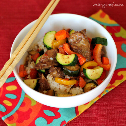 Asian Slow Cooker Beef with Vegetables
