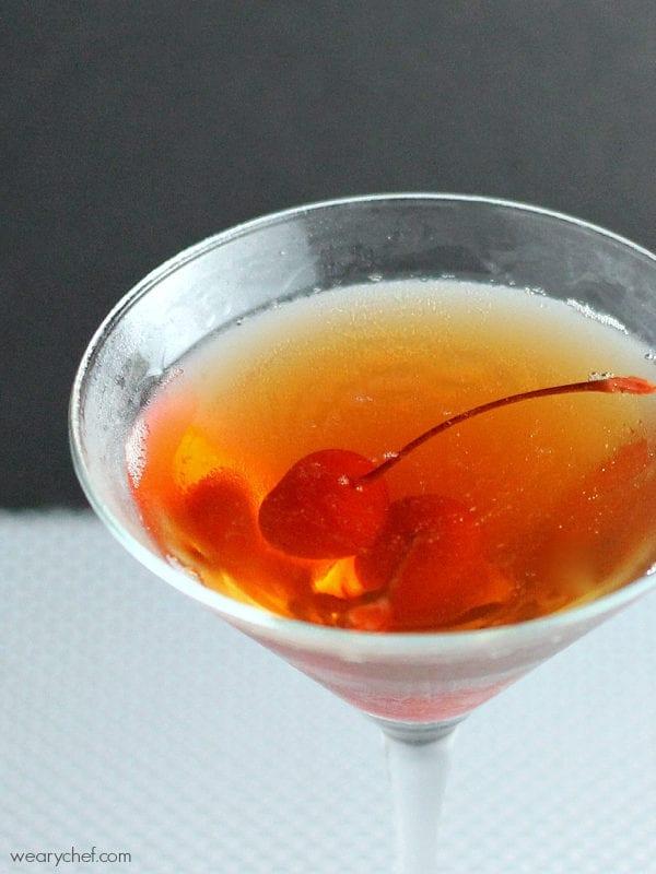 Cherry Lover's Manhattan #cocktail