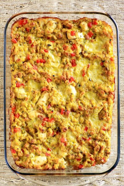 Easy Chicken and Dressing Casserole
