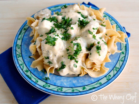 Slow Cooker Chicken Stroganoff - You will love this #easy #slowcooker #stroganoff recipe! by @wearychef