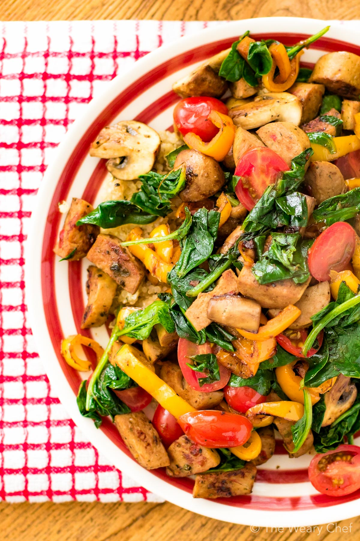 Want a versatile, easy dinner recipe? Try this sausage stir fry!