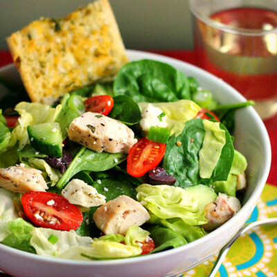 Classic Greek Salad Recipe with Chicken