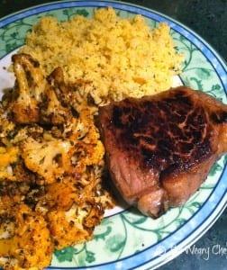 Steak with Chile Roasted Cauliflower