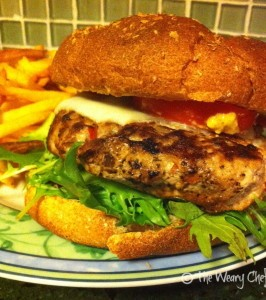 Turkey Burrger with Fries