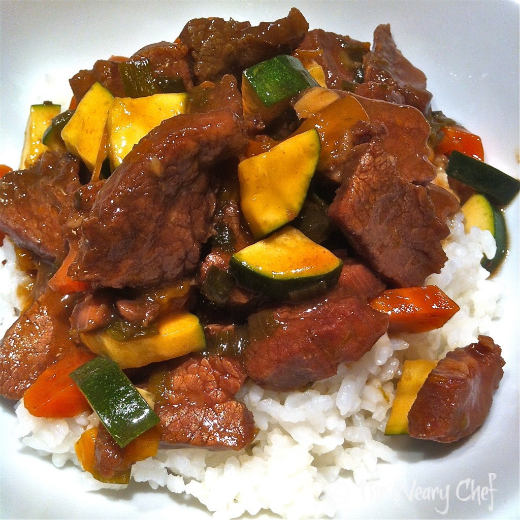 Slow Cooker Asian Beef with Vegetables by @wearychef
