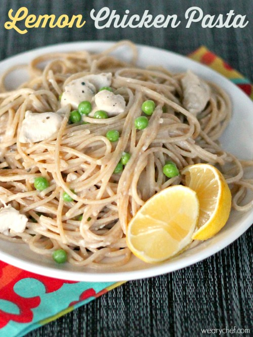 Lemon Chicken Pasta - A quick and easy dinner idea that will make your family happy! - wearychef.com