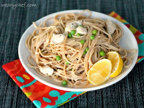 Easy Lemon Chicken Pasta - #easy, #healthy #pasta dinner! by @wearychef