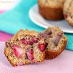 Sour Cream Strawberry Muffins