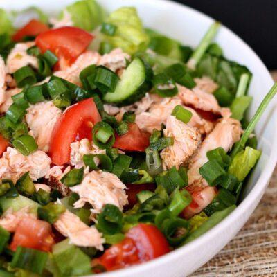 Thai Salmon Salad with Oil Free Dressing