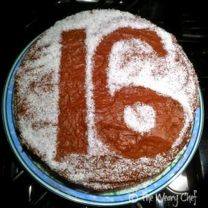 Number Stencil Cake Design