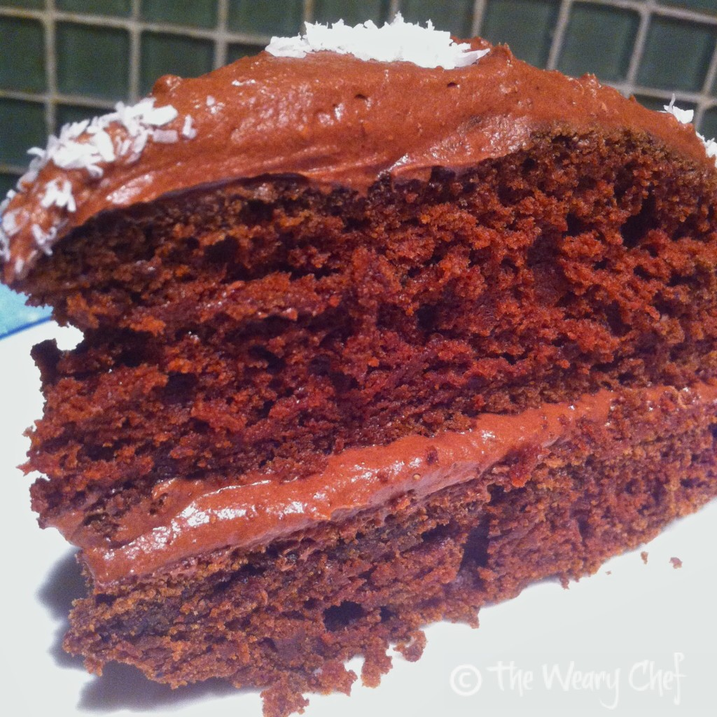 One-Bowl Chocolate Cake - Rich, dense devil's food #cake #recipe by @wearychef