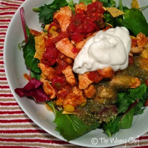 Chicken Taco Salad - Dinner in 15 minutes!