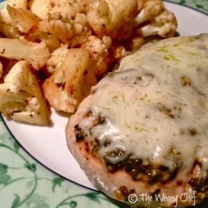 Pesto Chicken with Pan Fried Cauliflower