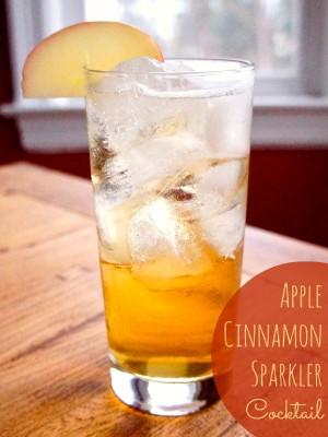 Apple Cinnamon Sparkler Cocktail