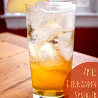Apple Cinnamon Sparkler Cocktail Recipe