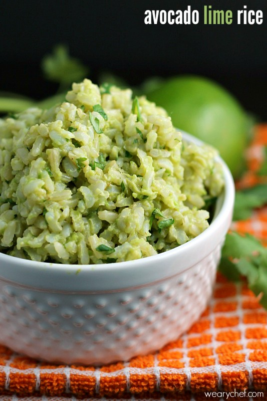 Avocado Lime Rice - Get this tasty side dish ready in about 5 minutes!