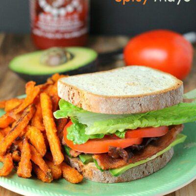 BLTA Sandwich with Spicy Mayo