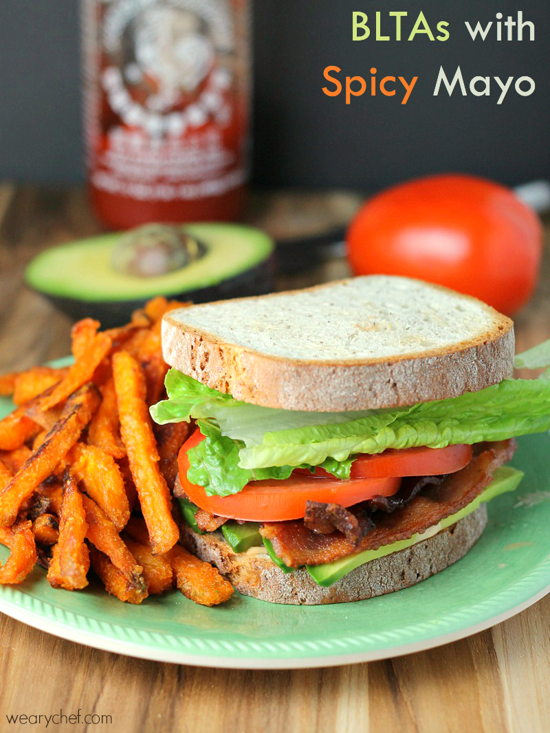 BLTA Sandwich with Spicy Mayo - This tasty and easy dinner is perfect for busy nights!