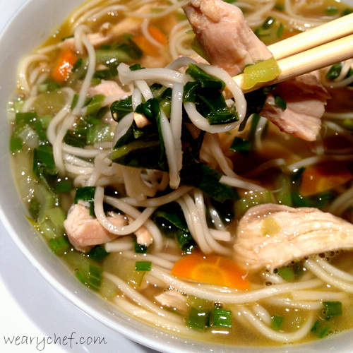 Asian Chicken Noodle Soup (Pho) - wearychef.com