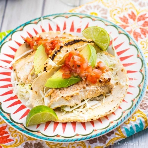 You won't believe that these tart, spicy fish tacos are on the table in about 15 minutes!