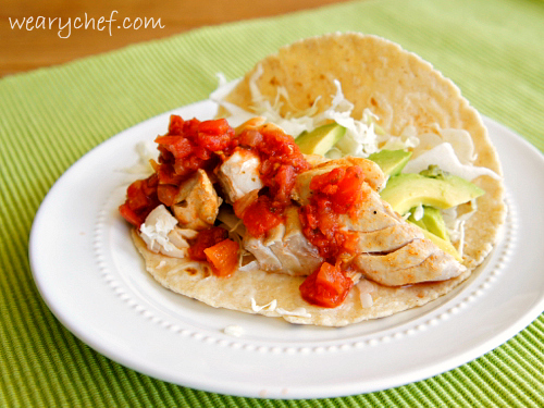 Chili Lime Tacos - Healthy #taco #dinner ready in 15 minutes! by @wearychef