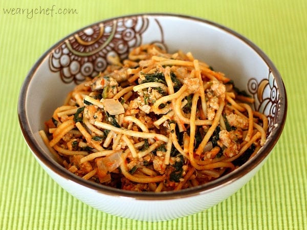 Creamy Turkey Spaghetti - Pep up plain old spaghetti with this easy recipe!