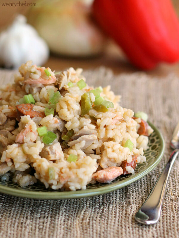 Easy Cajun Jambalaya - This versatile rice dish is a refrigerator magnet! - wearychef.com