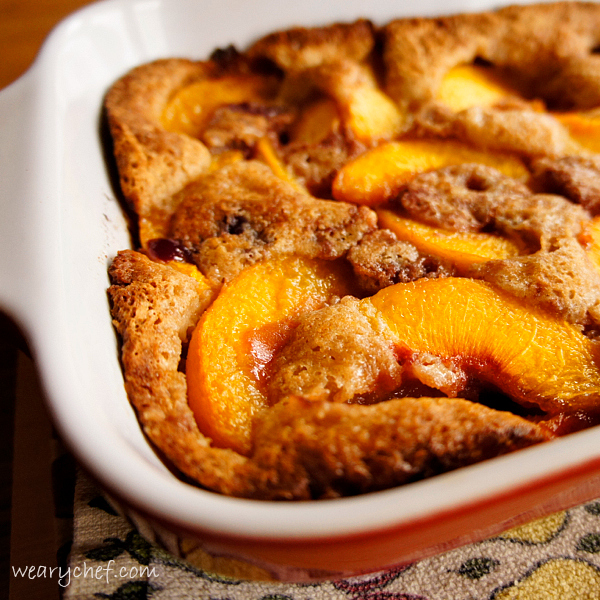 Too Easy Fruit Cobbler | The Weary Chef