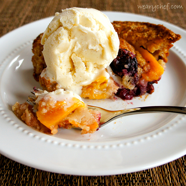 Too Easy Fruit Cobbler