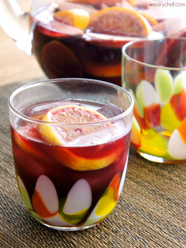 Easy Red Sangria - wearychef.com