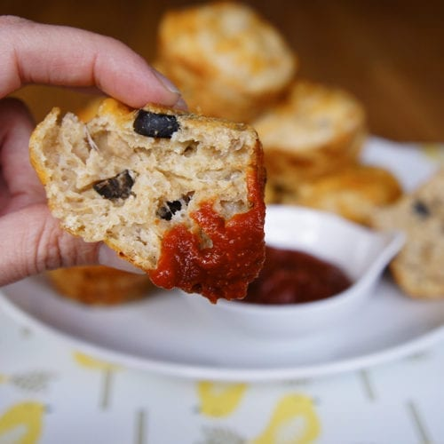 PIzza Muffins are just right for a snack, or serve them with a salad for a full meal!
