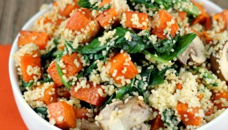 Sweet Potato Kale Couscous #healthy #sidedish