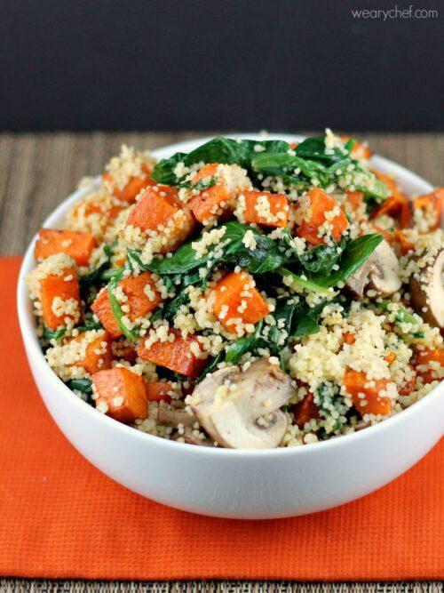 Sweet Potato Kale Couscous #healthy #sidedish