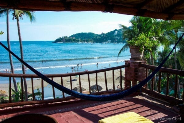 View from our hotel in Zihuatanejo.