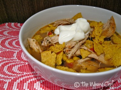 In-a-Hurry Mexican Chicken Soup