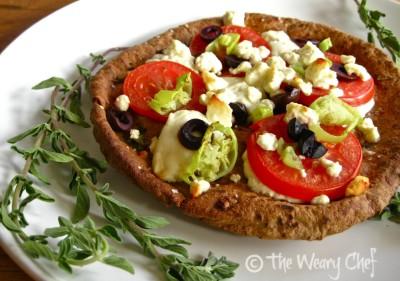 Mediterranean Pita Pizza - Quick and easy dinner!