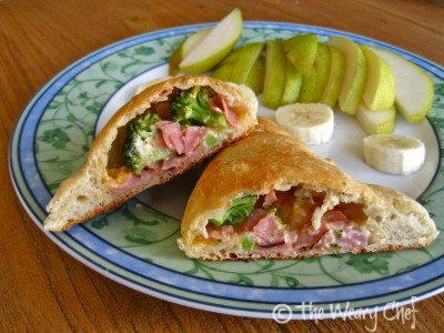 Ham and Broccoli Pockets (like homemade Hot Pockets) - Easy dinner for all ages!