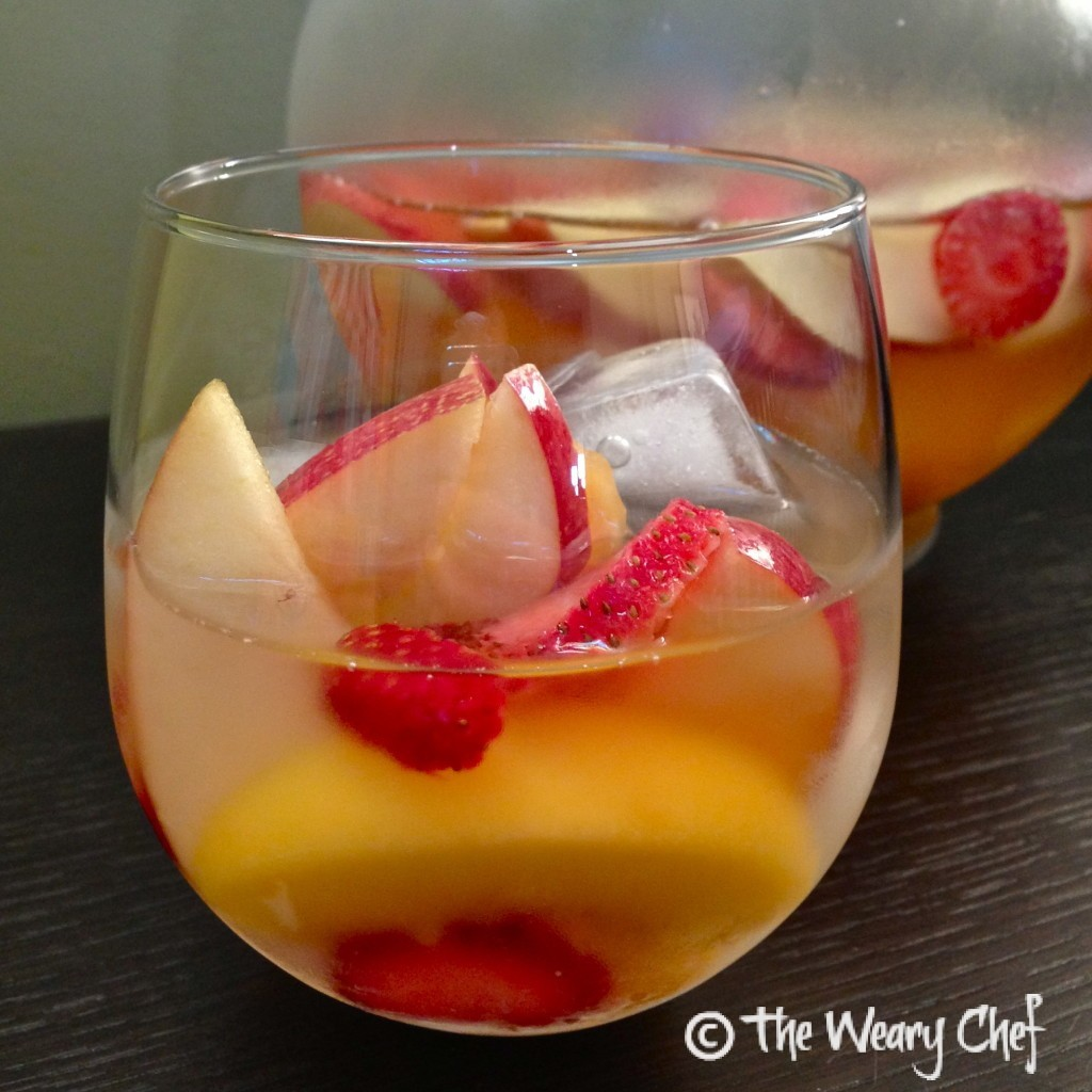 Easy Strawberry Peach White Sangria