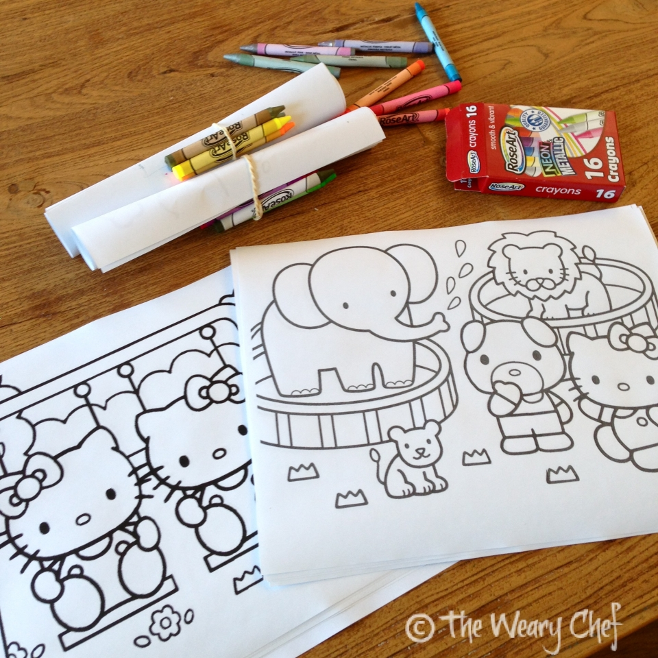 Hello Kitty Coloring Pages With Crayons : Hello kitty birthday party the weary chef