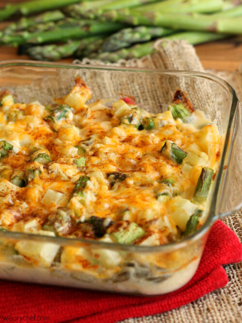 Cheesy Asparagus and Potato Casserole