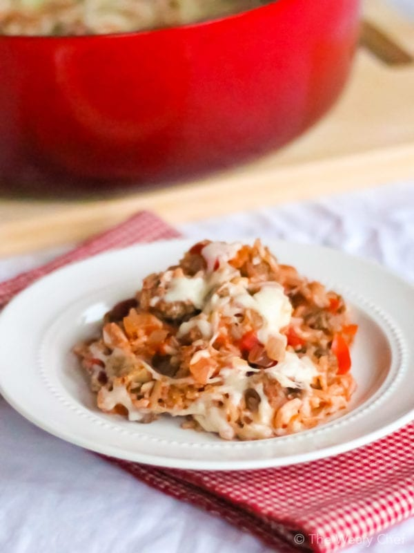 Whether you need a quick dinner or have a couple hours to spare, this Cabbage Roll Casserole is the recipe for you! (30 minute or low and slow instructions!)