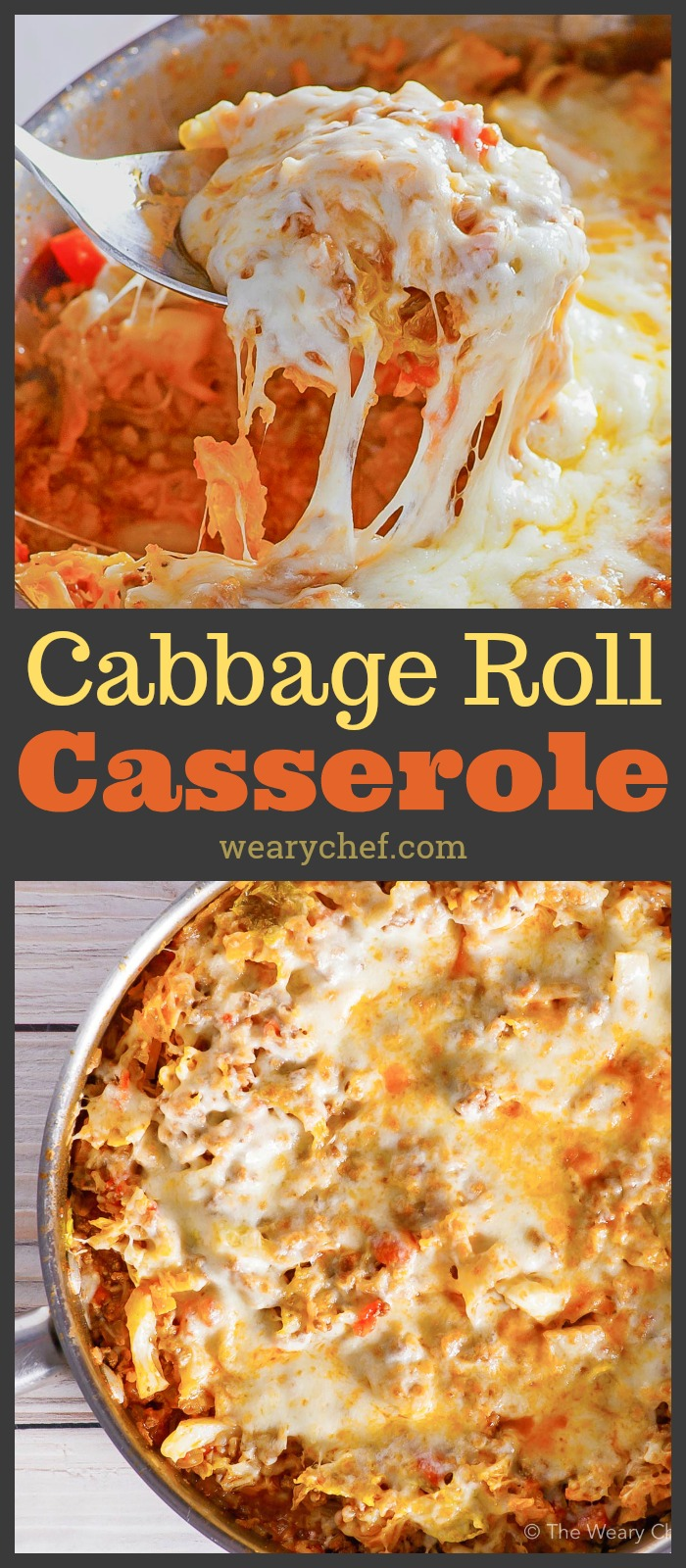 Whether you need a quick dinner or have a couple hours to spare, this Cabbage Roll Casserole is the recipe for you! You can make it in 30 minutes with white rice or low and slow with brown rice. #cabbage #cabbageroll #casserole