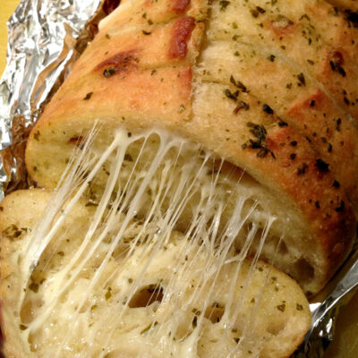 Irresistible Cheesy Pesto Bread