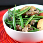 Garlic Green Beans with Mushrooms and Potatoes