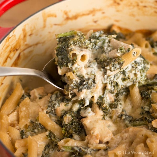 You will love this light but creamy white casserole loaded with chicken, kale, and casserole.