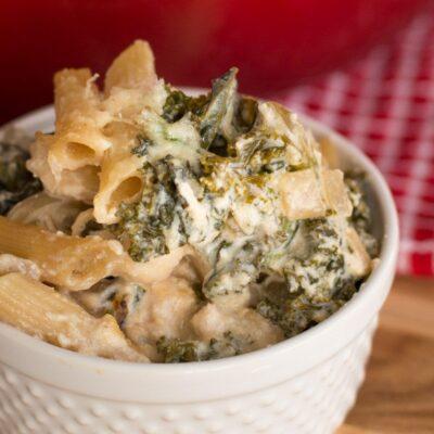 Chicken and Kale White Pasta Casserole