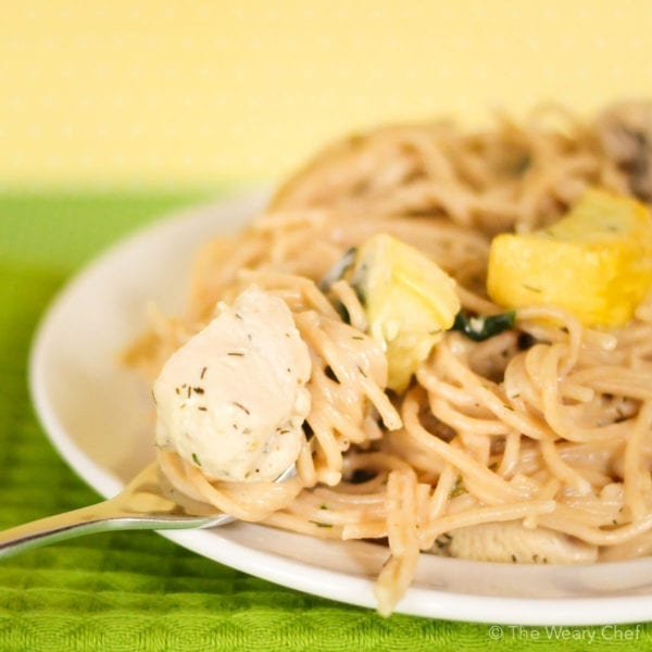 If you love Ranch flavor and chicken alfredo, this recipe is a dream come true!